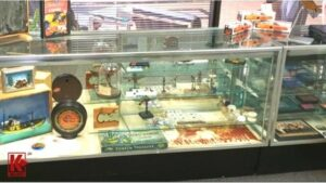 Check Out The Display Of Various Finds In The Showcase