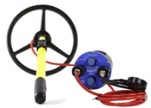 "aquapulse a1b metal detector with 10"" submersible coil"