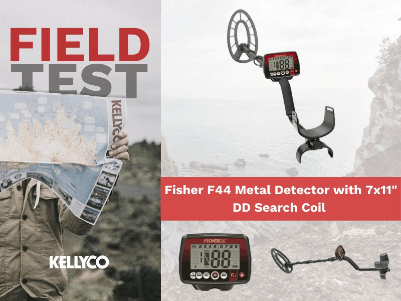 """Field Test: Fisher F44 Metal Detector with 7x11"""" DD Search Coil"""