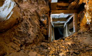 inside an abandoned gold mountain mine