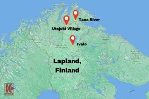 Map of The Lapland Gold Rush