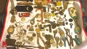 Representative sample of items found in 2019 using the Bounty Hunter Gold Digger and Garrett Ace 300 while metal detecting - Photo by Susie Martin