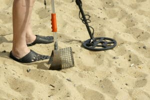 Sand Scoop and Metal Detector
