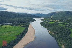 Tana River between Finland and Norway during Summer.