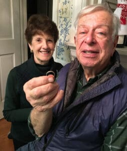 Dennis and Eleanor were elated to see the ring again.